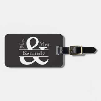 Personalized Mr and Mrs Newly Weds Monogram Luggage Tag