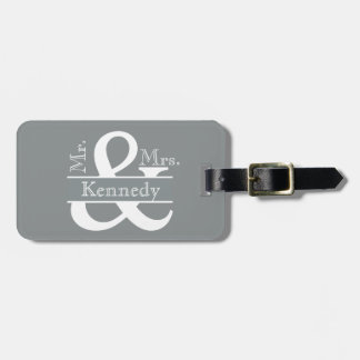Personalized Mr and Mrs Newly Weds Monogram Tag For Luggage