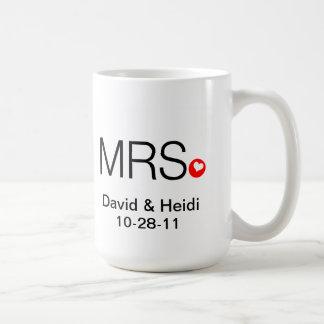 Personalized Mr and Mrs Wedding Mug