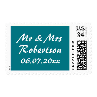 Personalized Mr and Mrs wedding stamps