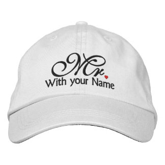 Personalized Mr. Husband Groom His Hers Newly Weds Baseball Cap