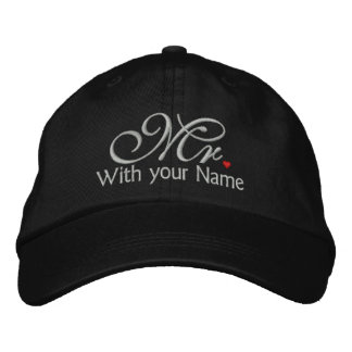 Personalized Mr. Husband Groom His Hers Newly Weds Embroidered Baseball Cap
