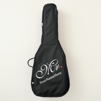 Personalized Mr. Husband Groom His Hers Newly Weds Guitar Case