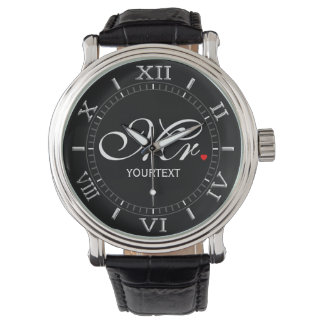 Personalized Mr. Husband Groom His Hers Newly Weds Wrist Watch