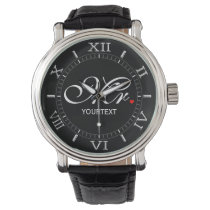 Personalized Mr. Husband Groom His Hers Newly Weds Wristwatch