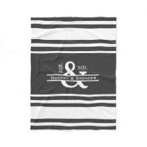 Personalized Mr & Mr Fleece Blanket