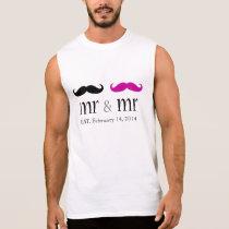 Personalized Mr. & Mr. Mustache T-Shirt