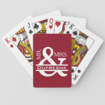 "Personalized Mr &amp; Mrs Red Playing Cards<br><div class=""desc"">A bright red with &quot;Mr. &amp; Mrs.&quot; in a beautiful white font.  Would be perfect for your game nights or a great gift.</div>"