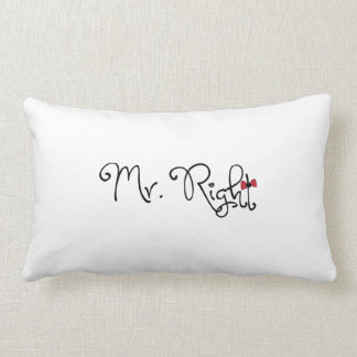 Personalized Mr. Right Lumbar Pillow