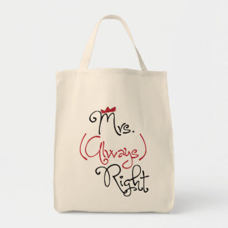 Personalized Mrs. Always Right Bag