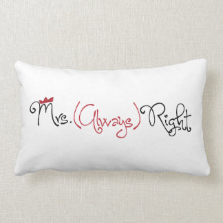 Personalized Mrs. Always Right Lumbar Pillow