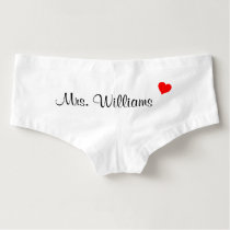 Personalized Mrs. Boyshorts