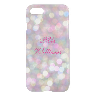 Personalized Mrs Colorful Lights iPhone 7 Case