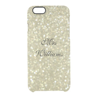 Personalized Mrs Glittery Gold iPhone 6/6s Case
