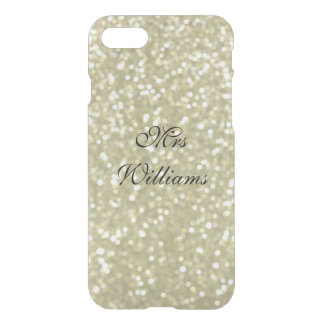 Personalized Mrs Glittery Gold iPhone 7 Case