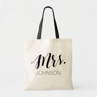 Personalized Mrs Tote Bag