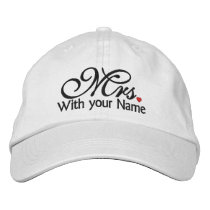 Personalized Mrs. Wife Bride His Hers Newly Weds Embroidered Baseball Hat