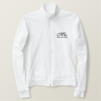 Personalized Mrs. Wife Bride His Hers Newly Weds Embroidered Jacket