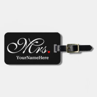 Personalized Mrs. Wife Bride His Hers Newly Weds Luggage Tag