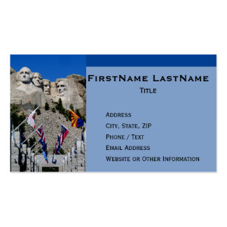 Personalized Mt Rushmore South Dakota Double-Sided Standard Business Cards (Pack Of 100)