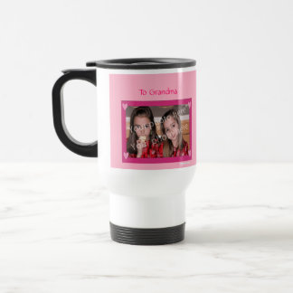 Personalized mug Pink with Pink Hearts Frame