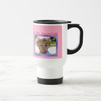 Personalized mug Purple with Pink Hearts Frame