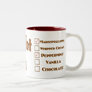 Personalized mugs for mom's hot cocoa.