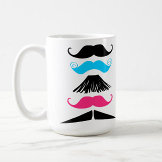 Personalized Multi Color Mustaches Stache Mug