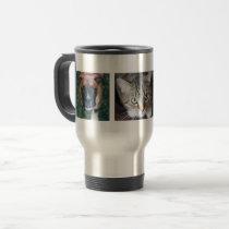 Personalized Multiple Pet Photo Travel Mug