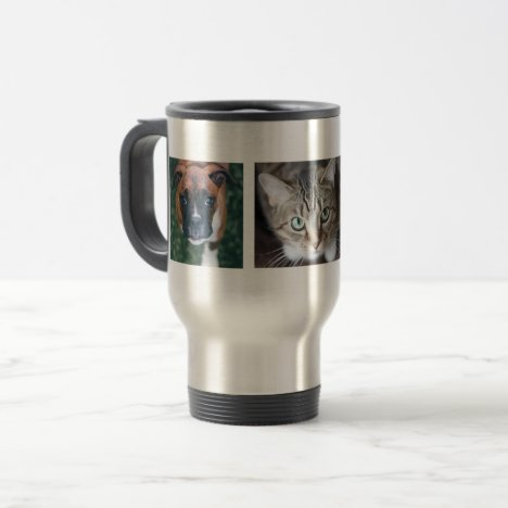 Personalized Multiple Pet Photo Travel Mug