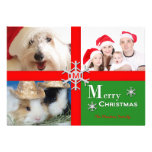 Personalized Multiple Photo Christmas Flat Card Personalized Invitations