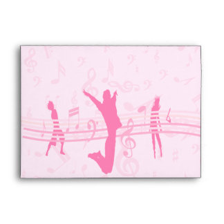 Personalized Music Dance and Drama Pink Envelope