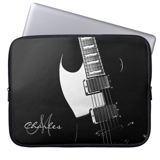 Personalized Music Electric Guitar Laptop Sleeve