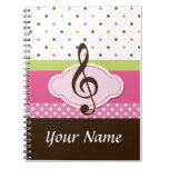 Personalized Music Lesson Practice Journal Noteboo Note Books
