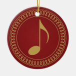 Personalized Music Note Christmas Ornament Gift