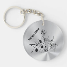 Personalized Music Note Gifts With Your Name Keychain at Zazzle