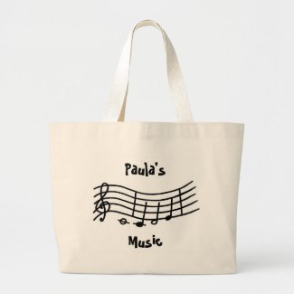 Personalized music notes bag bag
