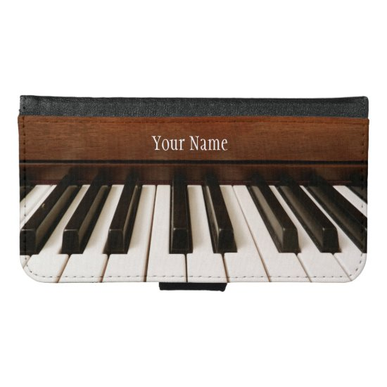 Personalized Music Piano Galaxy Wallet Phone Case