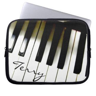 Personalized Music Piano Keyboard Laptop Sleeve