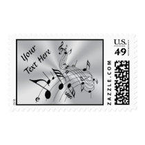 Personalized Musical Note Postage Stamps