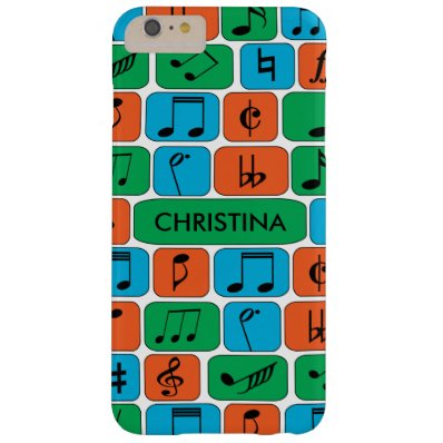 Personalized Musical Notes Barely There iPhone 6 Plus Case