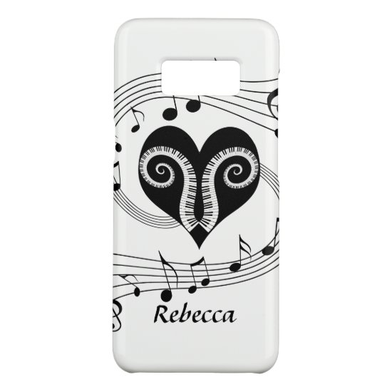 Personalized Musical notes heart and piano keys Case-Mate Samsung Galaxy S8 Case