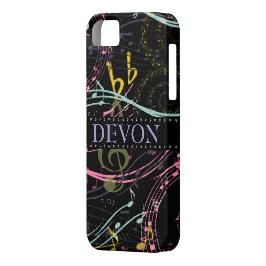 Personalized Musical Notes iPhone 5 Case