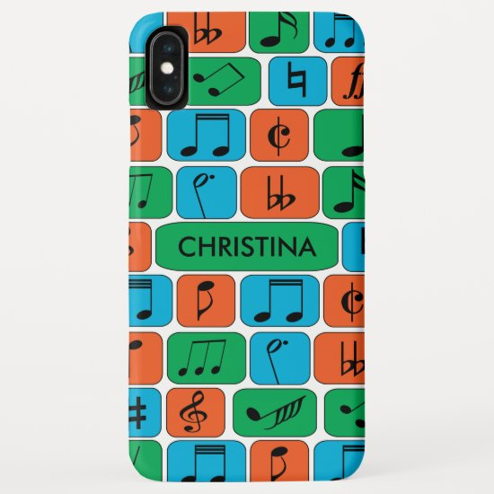 Personalized Musical Notes iPhone XS Max Case