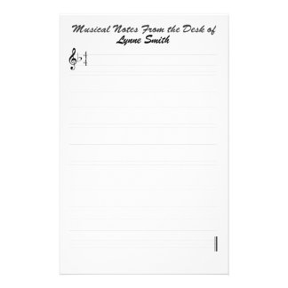 Personalized Musical Notes Stationery