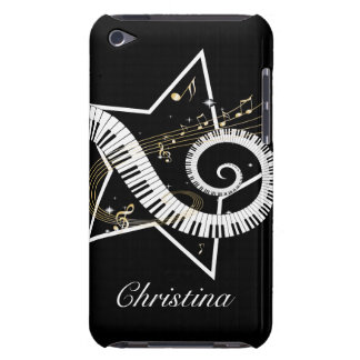 Personalized Musical Star golden notes iPod Touch Cases