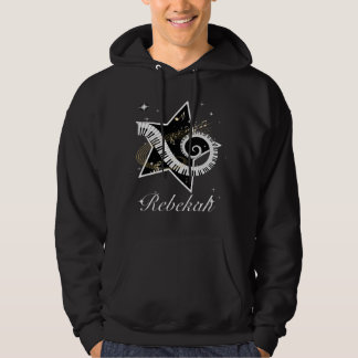 Personalized Musical Star golden notes Hoodie