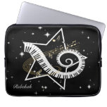 Personalized Musical Star golden notes Laptop Computer Sleeves