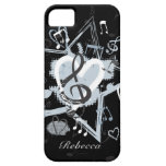 Personalized Musical Star notes designer pattern iPhone 5 Cases