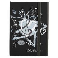Personalized Musical Star notes designer pattern iPad Folio Case